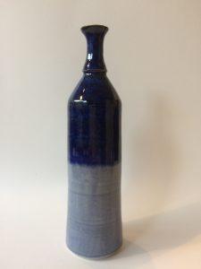 keramiek Vaasje donker en licht cobaltblauw